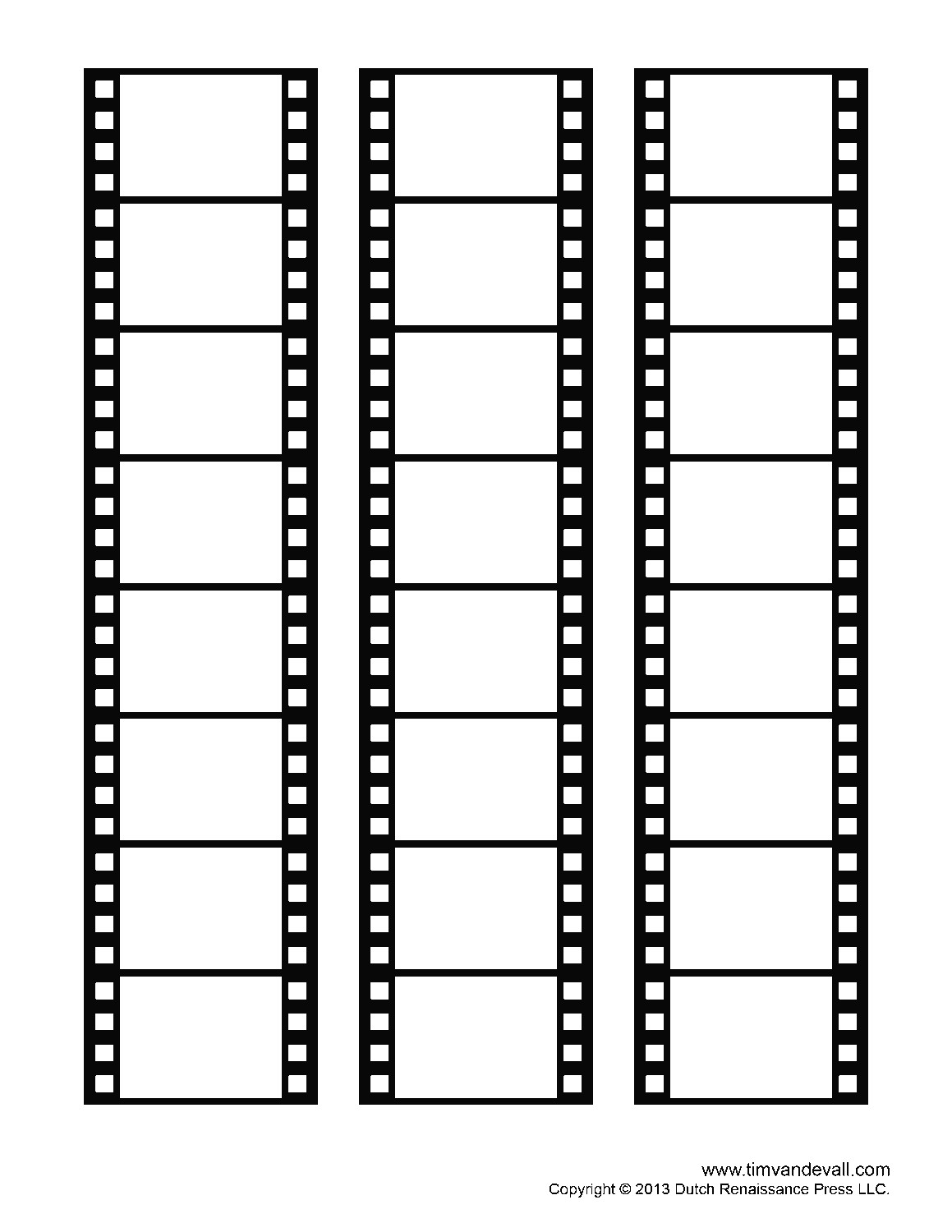 blank film strip templates