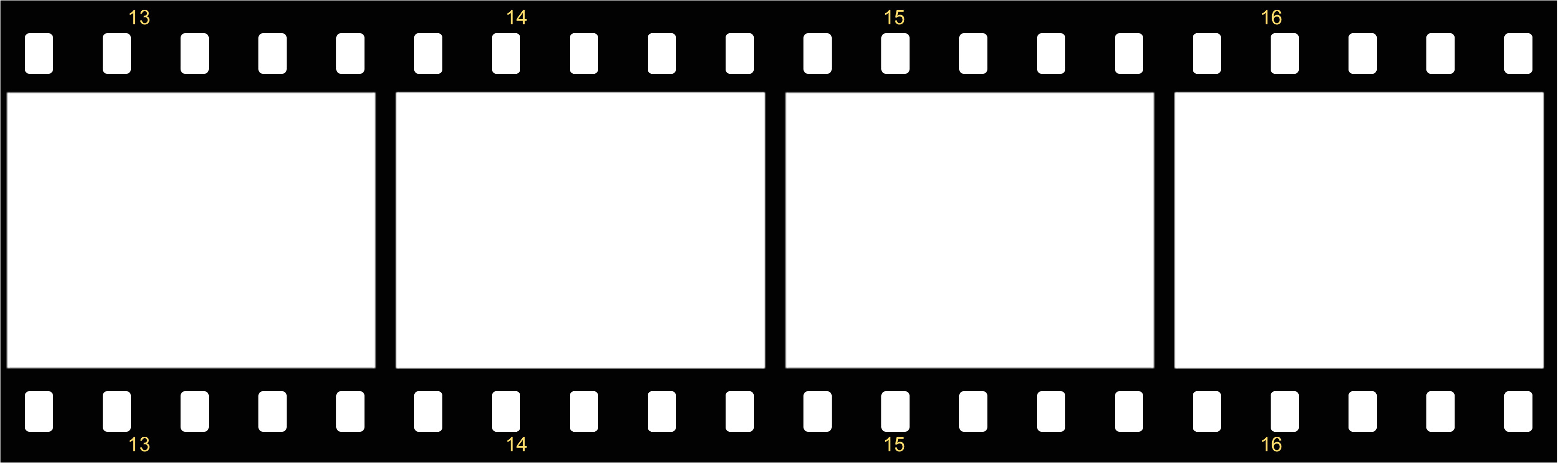 free film strip border template