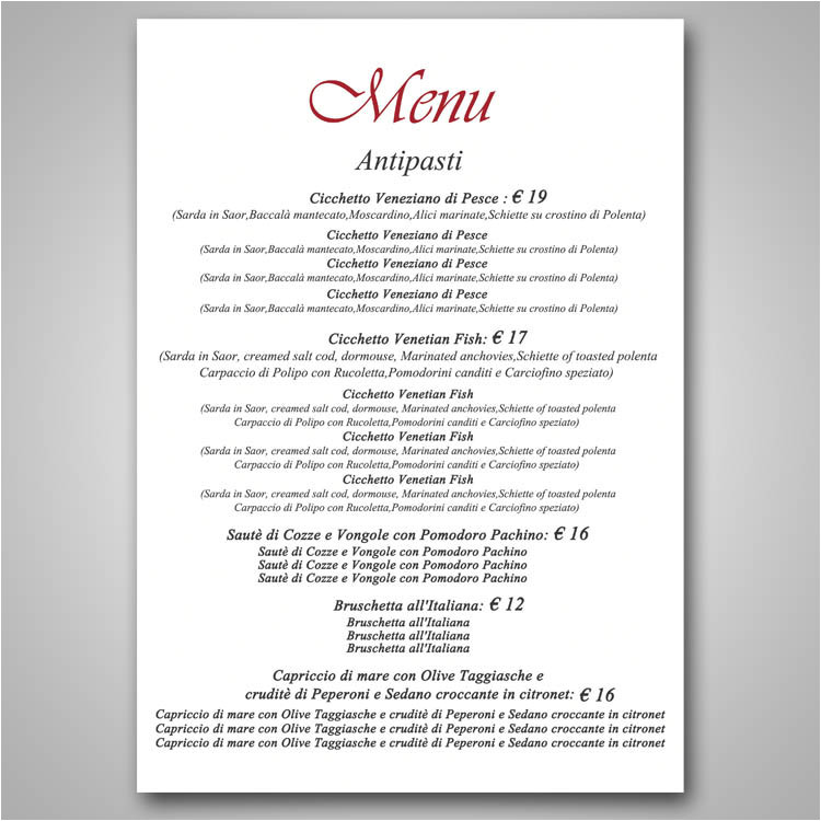 Fine Dining Menu Template Free Restaurant Fine Dining Menu Template Design Freelancer