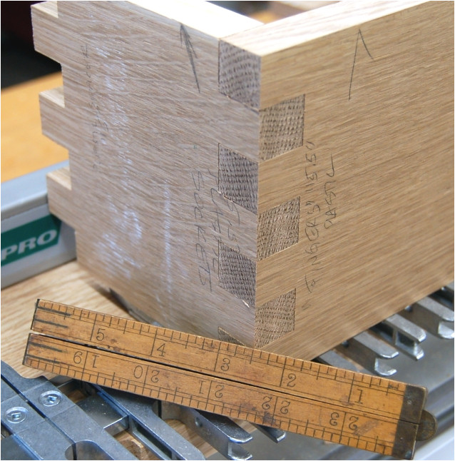 34 inch finger joints on the d4r pro dovetail jig