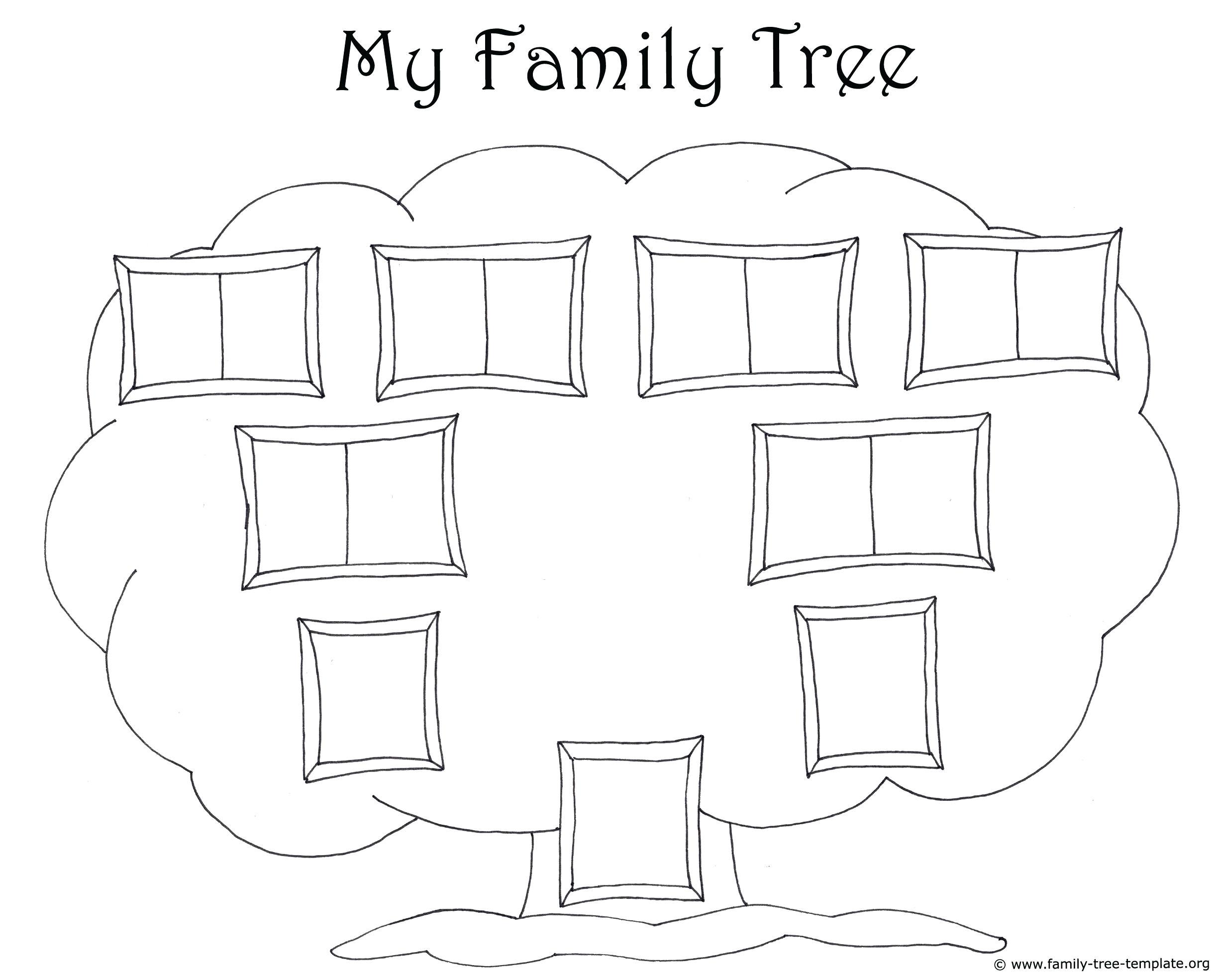 Fingerprint Template for Kids Diagram Printable Blank Family Tree Diagram