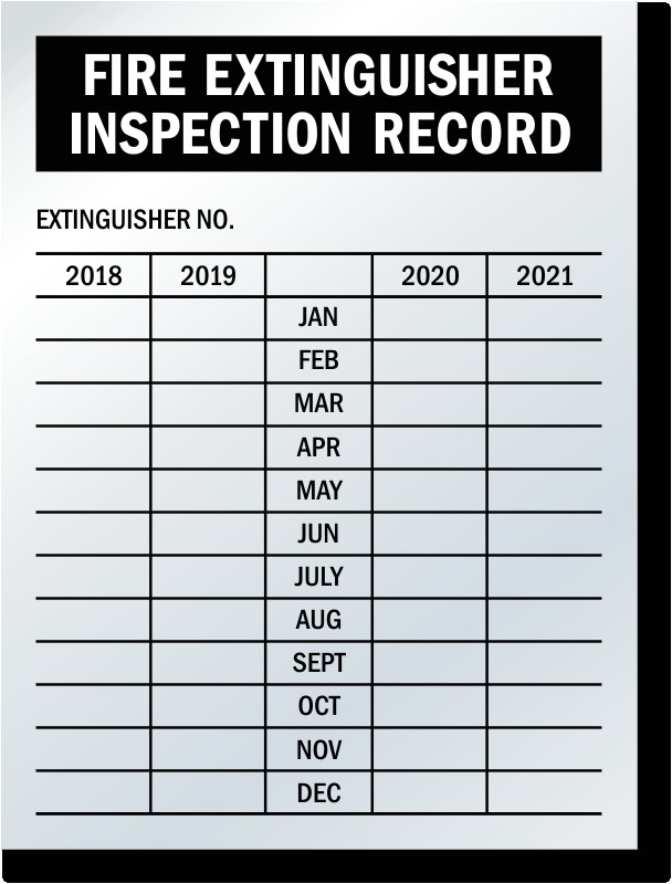 4 year record fire extinguisher tags