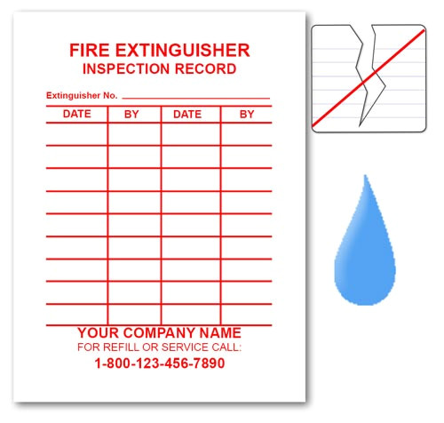 Fire Extinguisher Inspection Tag Template Fire Extinguisher Inspection Label