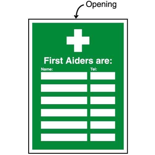 first aid updatesign holders