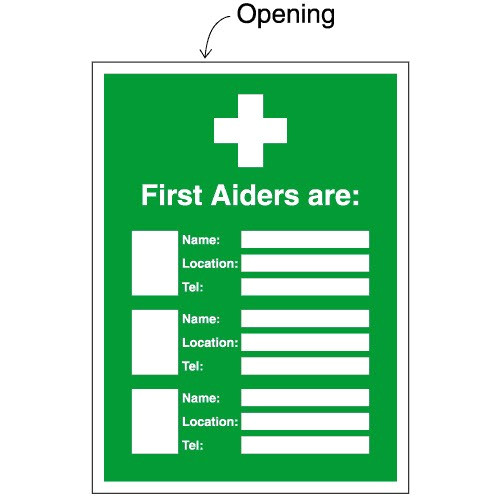 First Aid Poster Template A4 First Aid Update Sign Holders for Printable Inserts