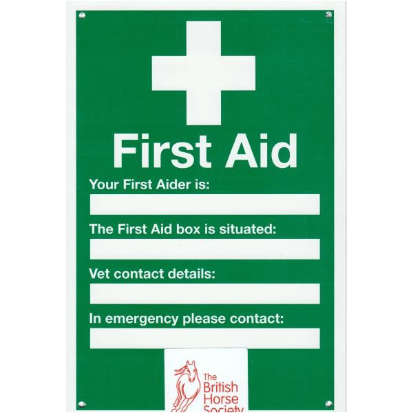 sign first aid a4