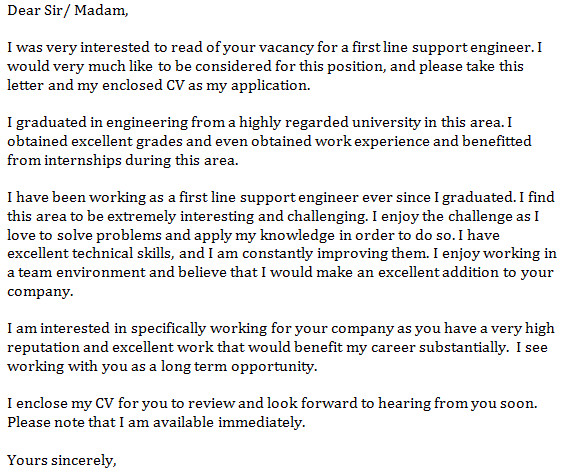 First Line Of A Cover Letter Letter Of Application Letter Of Application Opening Line