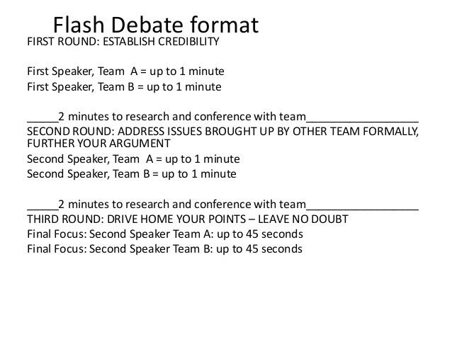 flash debate format