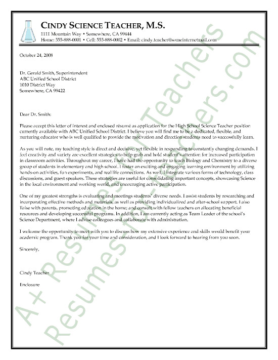 newly qualified teacher letter of