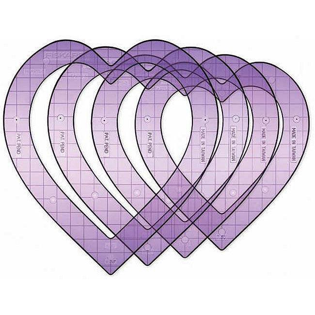 Fiskars Shape Cutter Templates Fiskars 4 Pc Super Sized Hearts Shape Template Set Ebay
