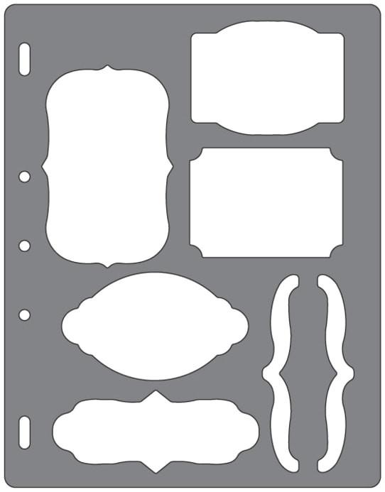 fiskars shape template brackets journal