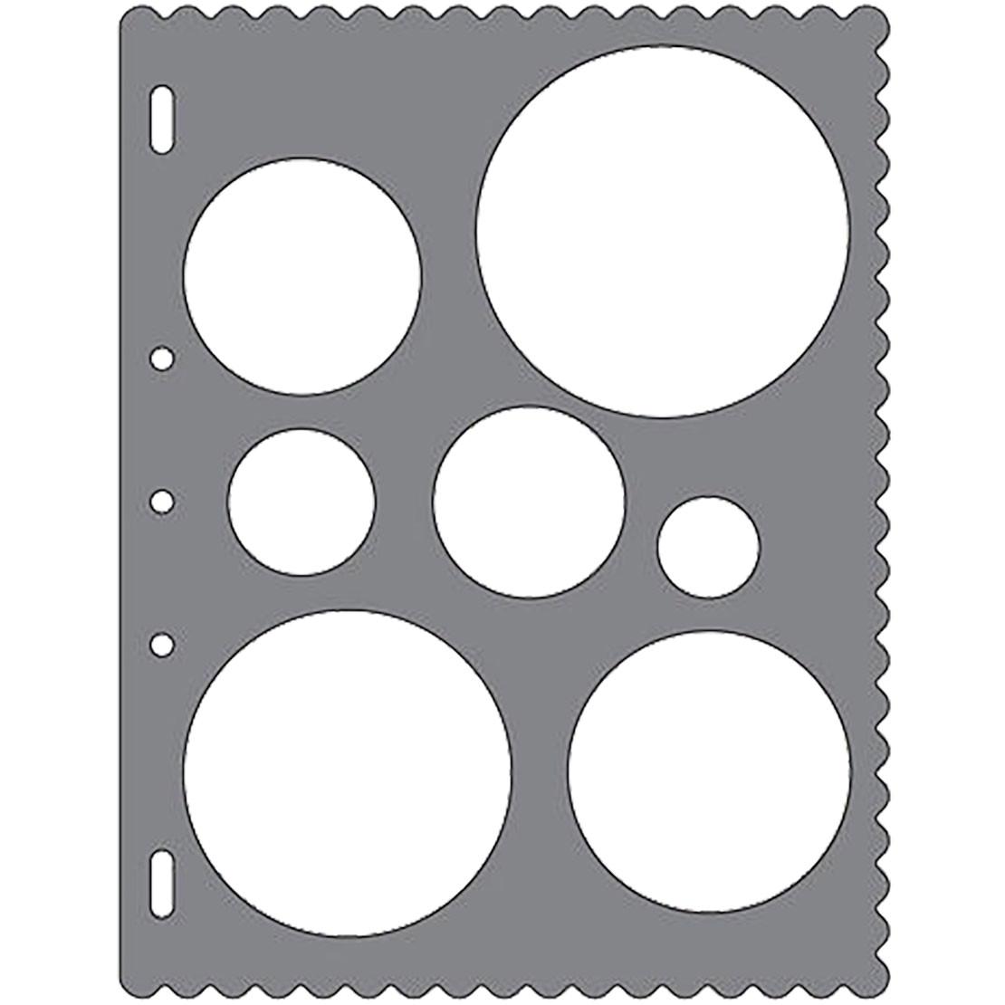 Fiskars Shape Cutter Templates Shape Template Circles