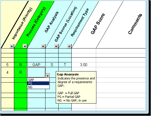 fit gap analysis template xls