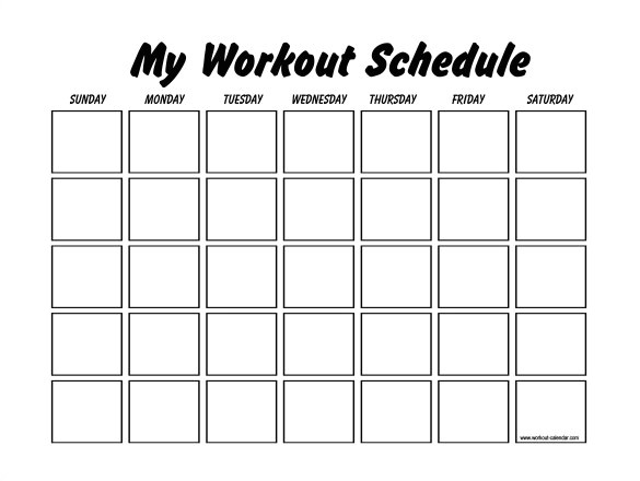 Fitness Program Template Free Download 22 Workout Schedule Templates Pdf Doc Free Premium