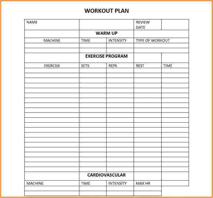 daily workout calendar 2018 template excel word pdf