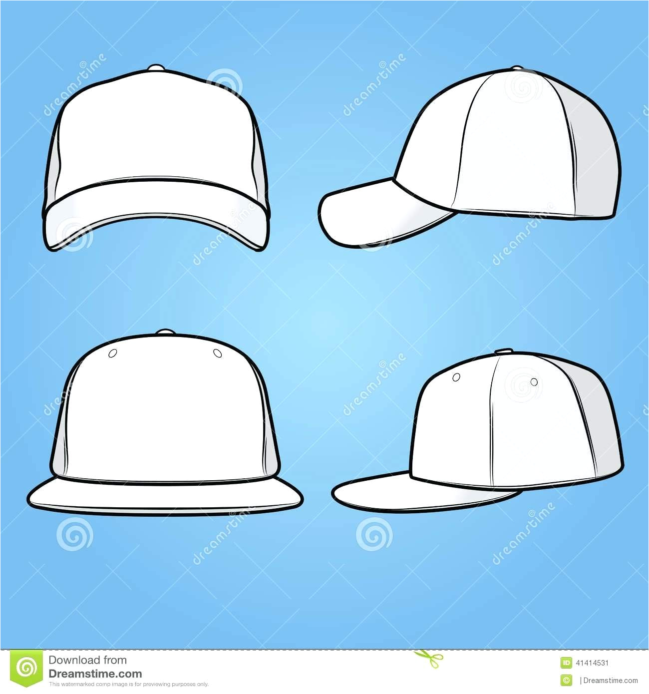 fitted hat template