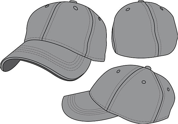 Fitted Hat Template Royalty Free Baseball Cap Clip Art Vector Images