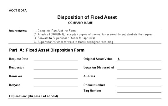 disposal form template