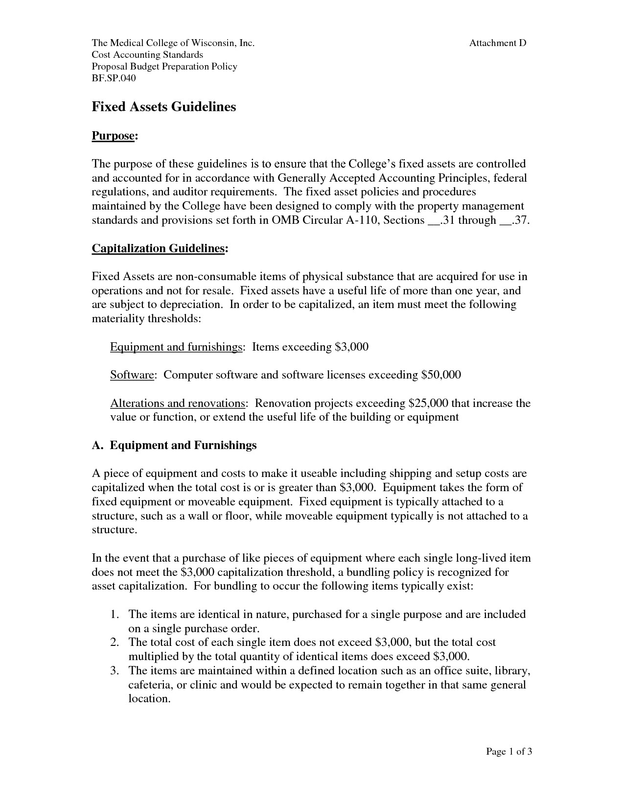 Fixed asset Policy Template Other Template Category Page 8 Efoza Com