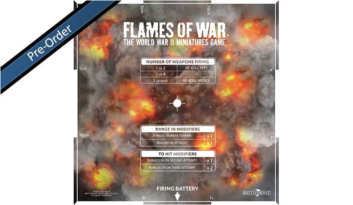 battlefront flames of war mid war artillery template 4th ed