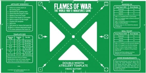 btpy8t5c flames of war green doublewidth artillery template