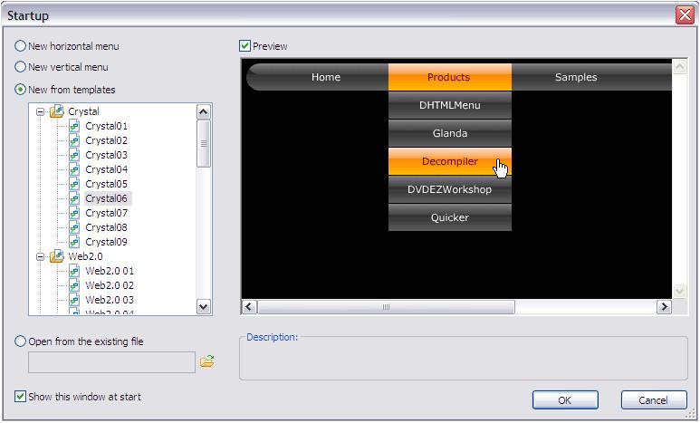 flash menu templates free download