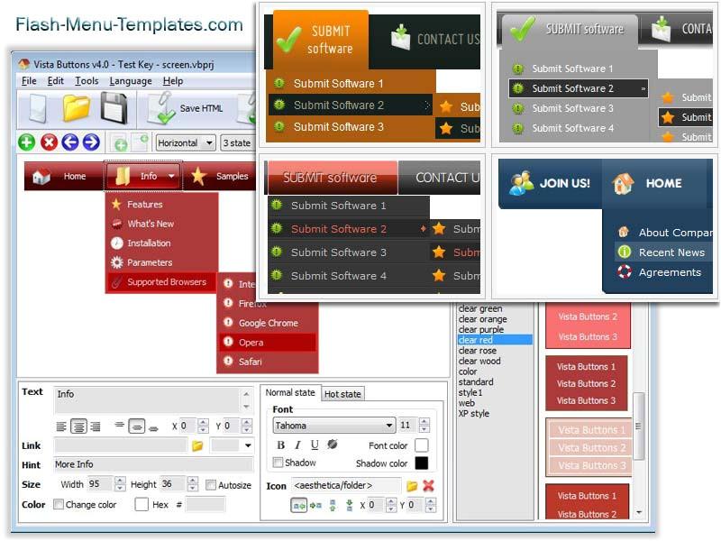 Flash Menu Templates Free Download Flash Menu Builder 1 0 Imfreeware Com