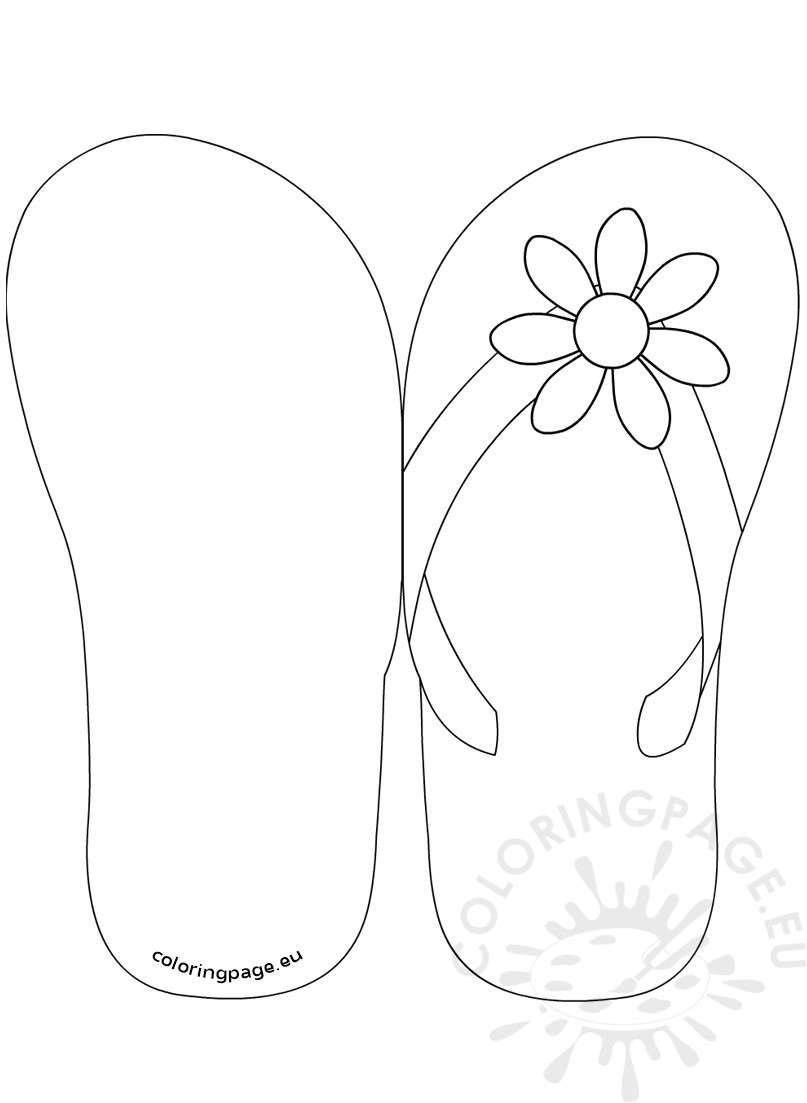 flip flop invitation template