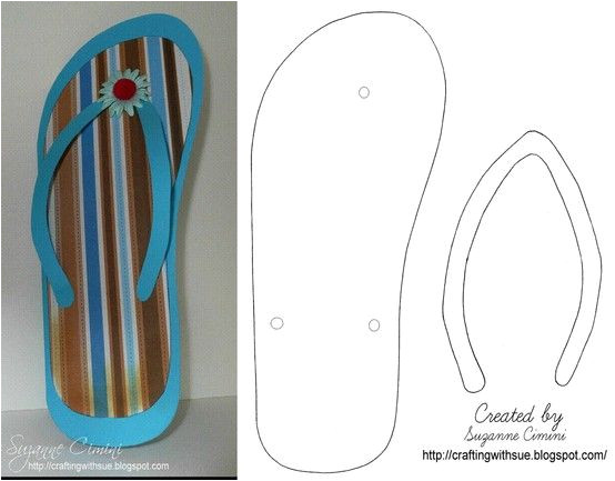 Flip Flop Card Template Flip Flop Template We Made Many Of them and Put them