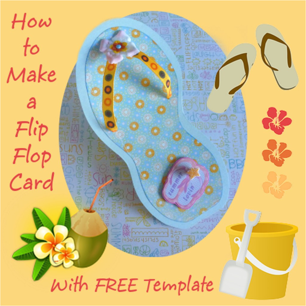 how to make a flip flop card
