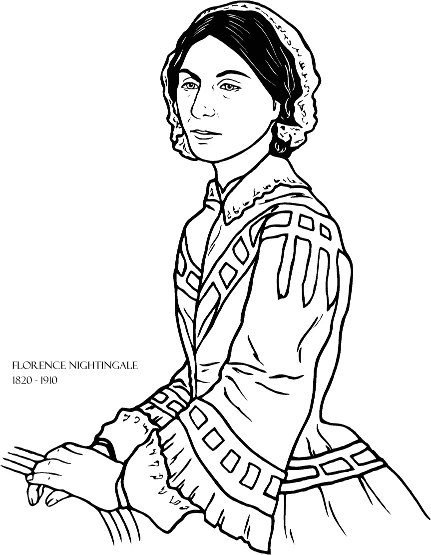 Florence Nightingale Lamp Template Florence Nightingale Print Out and Color