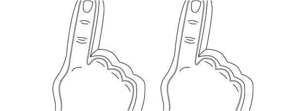foam finger template medium
