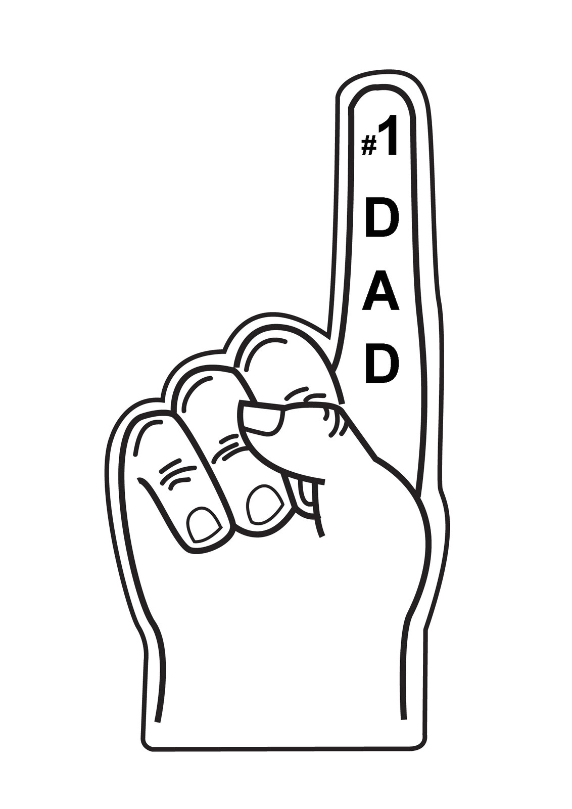 Foam Finger Template Zakka Life Kid Craft Father 39 S Day Card
