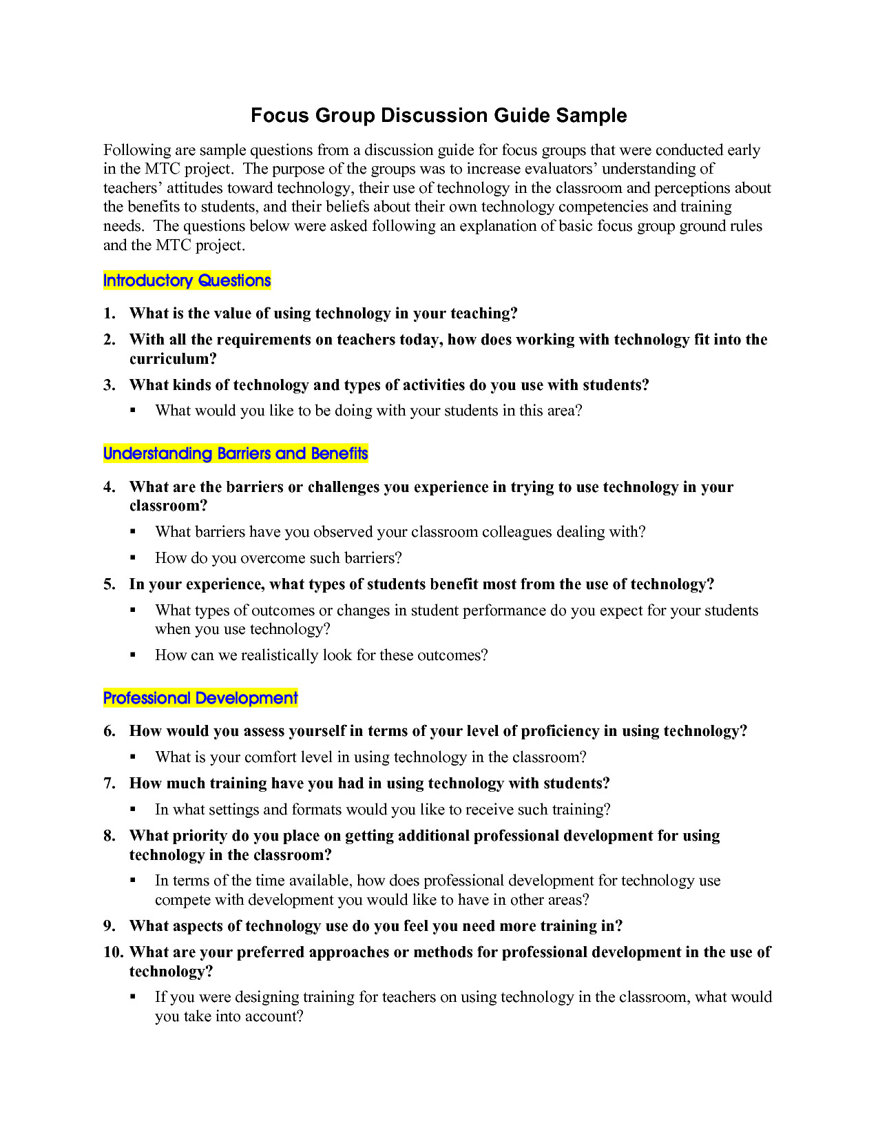 Focus Group Discussion Report Template Best Photos Of Sample Interview Guide Template Tell Me