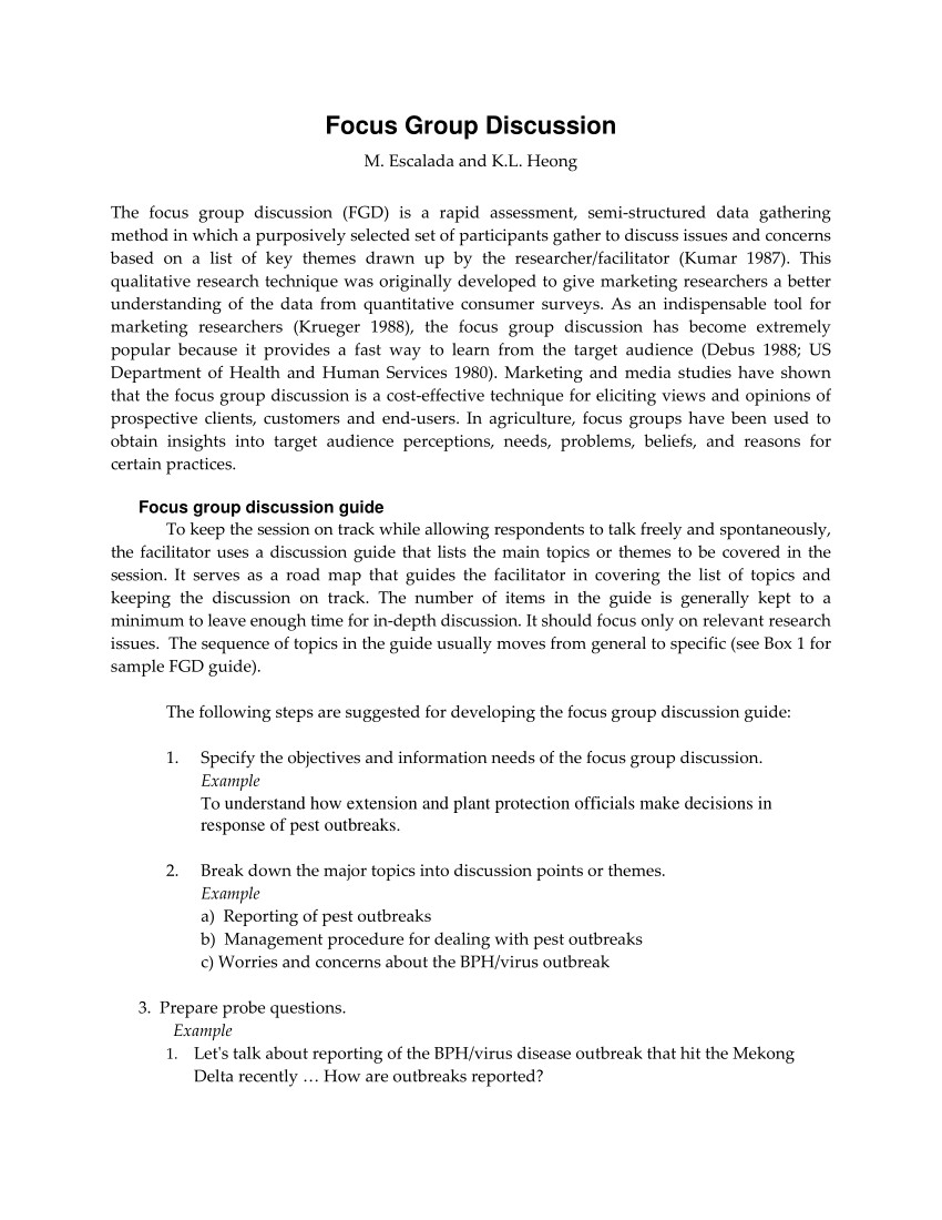 Focus Group Discussion Report Template Pdf Focus Group Discussion 1