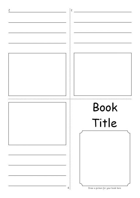 Foldable Booklet Template Editable Fold Over Mini Book Templates Sb7366 Sparklebox