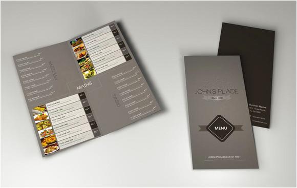 218709 bi fold food menu template