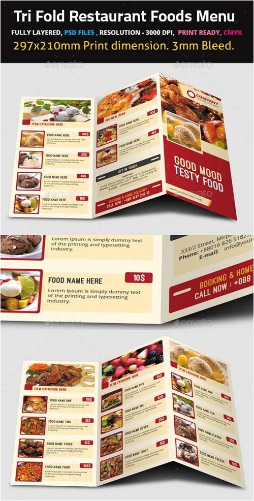 13209 graphicriver tri fold restaurant foods menu