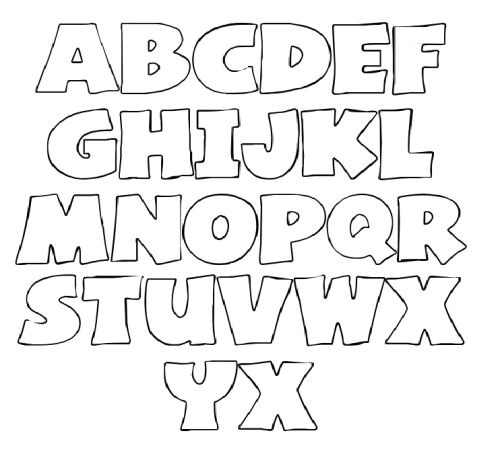 Font Templates to Print Alphabet Font Templates My Traceables Letter Stencils