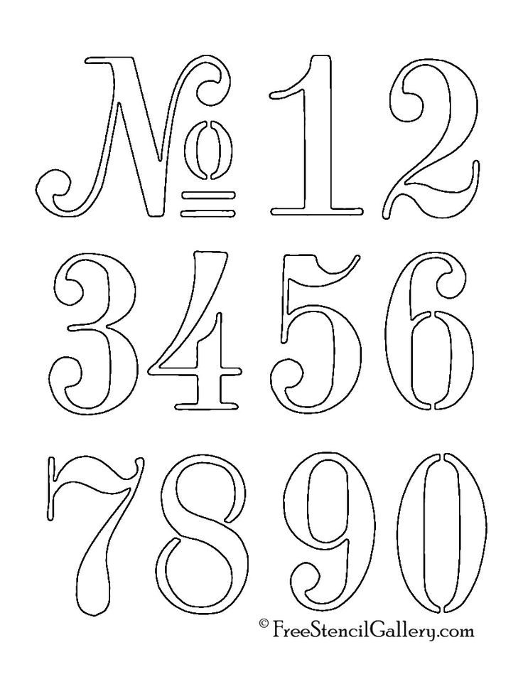 Font Templates to Print Best 25 Number Tattoo Fonts Ideas On Pinterest Number