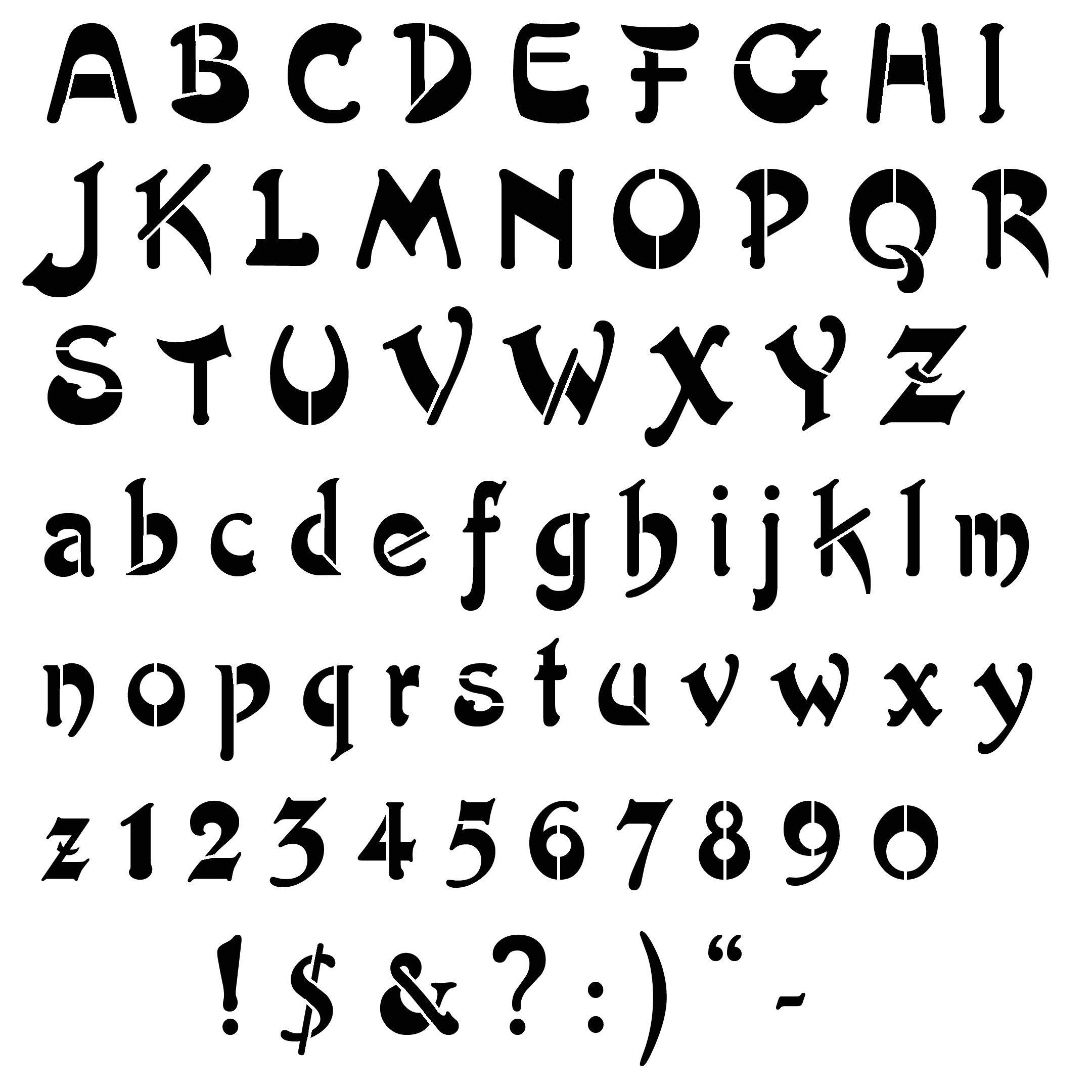 Font Templates to Print Free Cut Out Alphabet Stencils View Image Design View