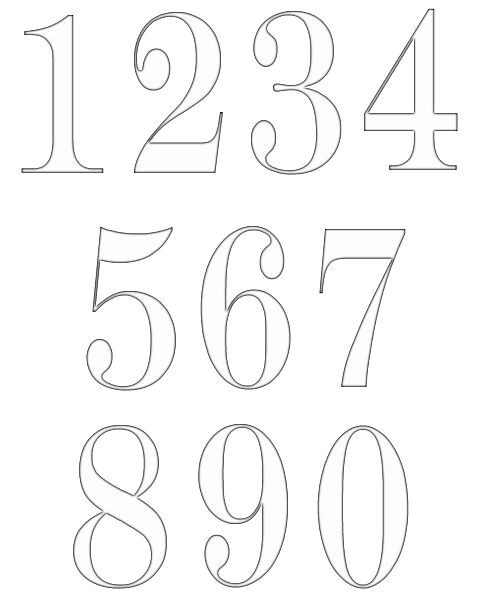 Font Templates to Print the 25 Best Number Fonts Ideas On Pinterest Number