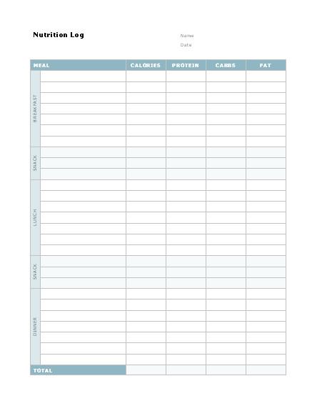 4 free glucose log sheet templates
