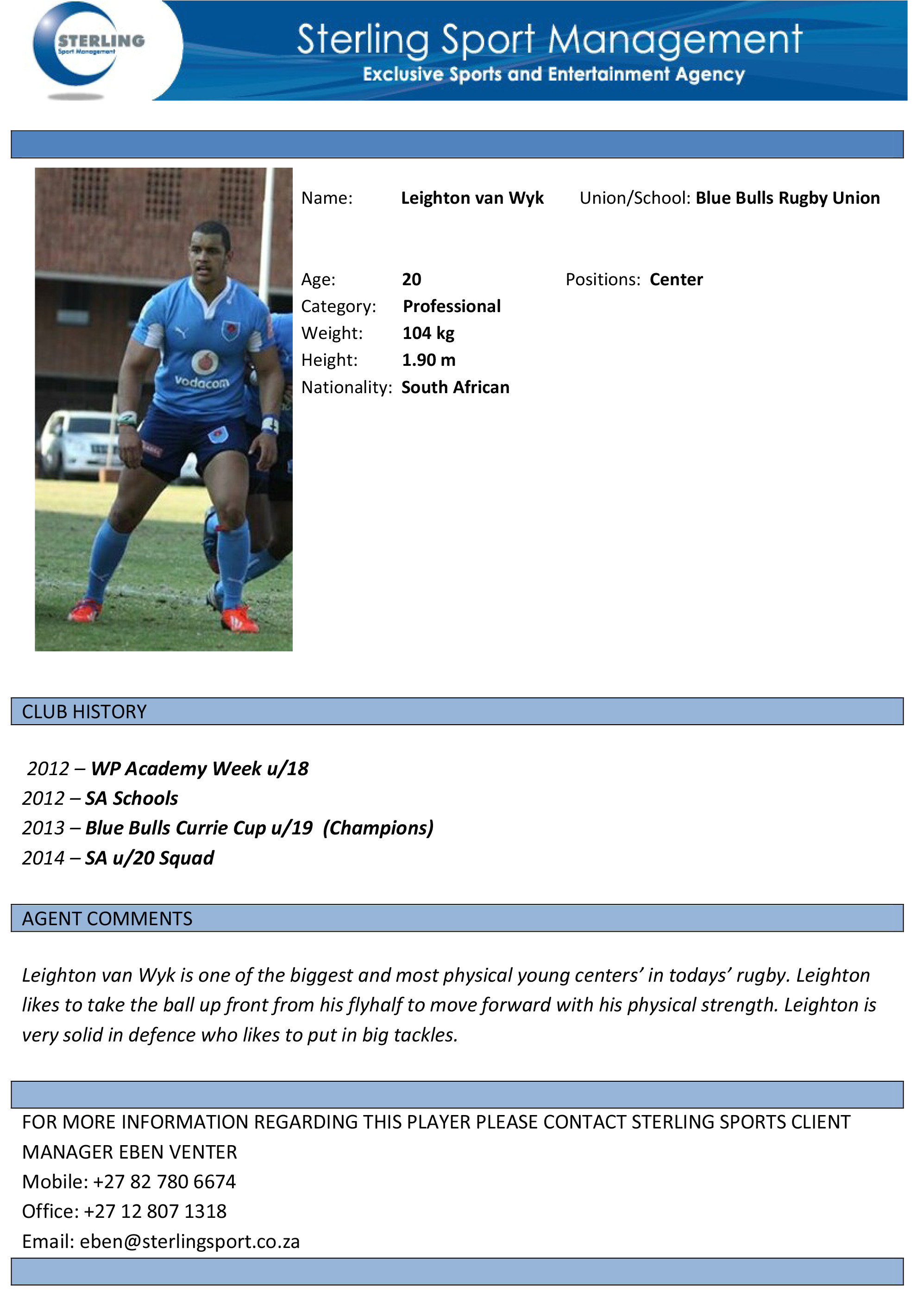 football cv template with images