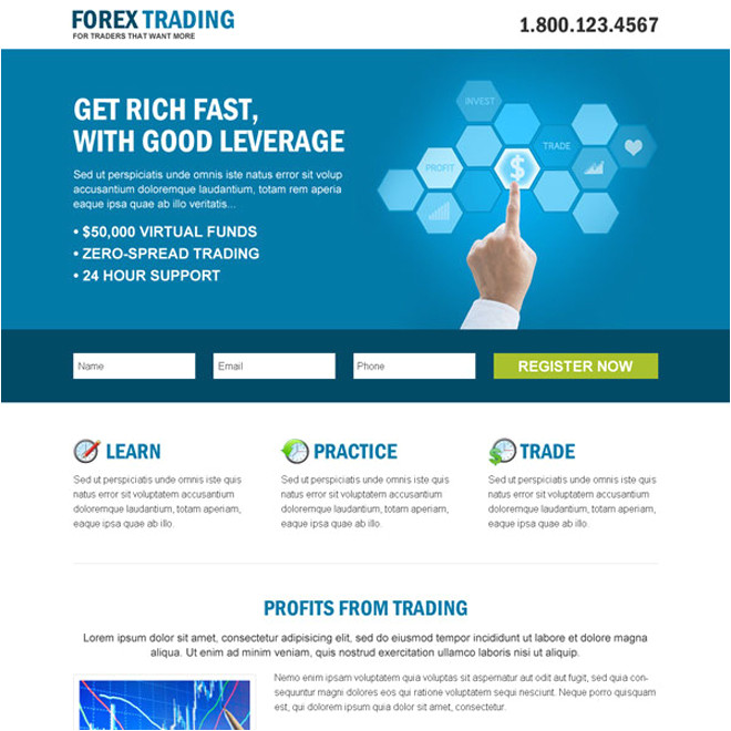 Forex Landing Page Template forex Landing Page Start A Binary Option Broker Business now