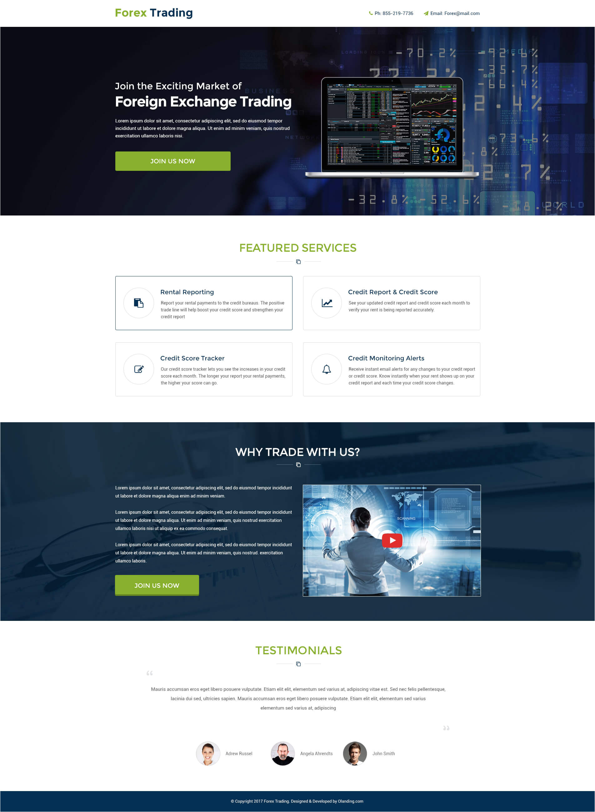lead gen responsive forex trading landing page design templates to boost your trading business conversion