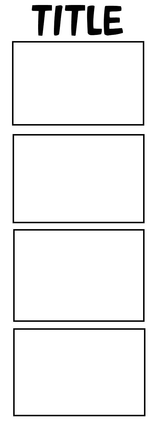 4panel comic strip template 318755033