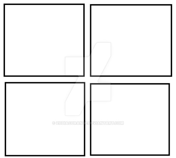freshmen comic 4 panel template 659783714