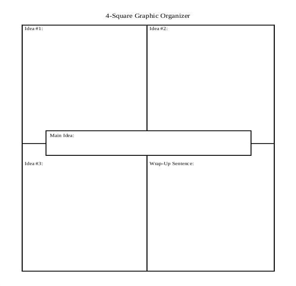 Foursquare Templates 12 Four Square Writing Templates Free Sample Example