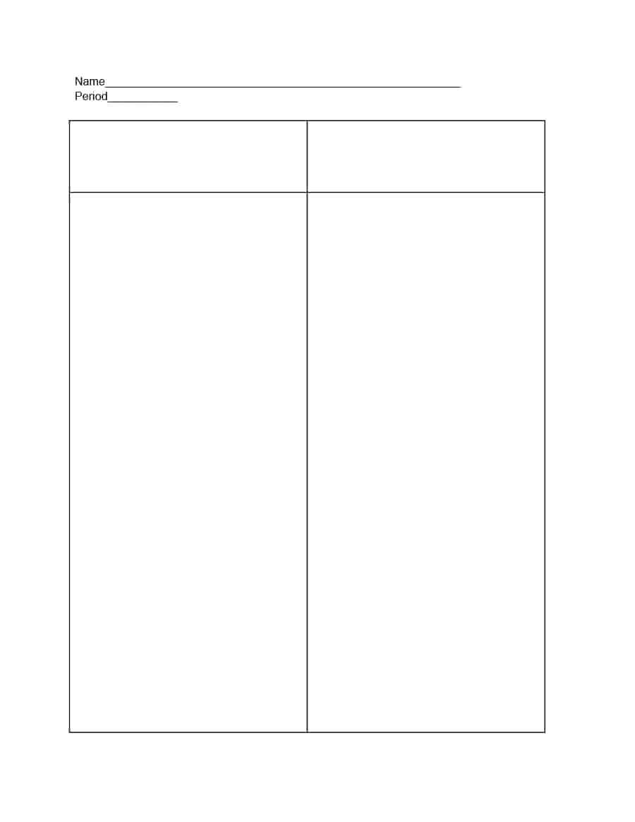 Foursquare Templates Blank Four Square Writing Template
